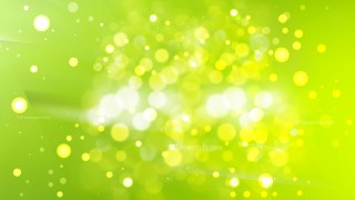 Abstract Lime Green Bokeh Background
