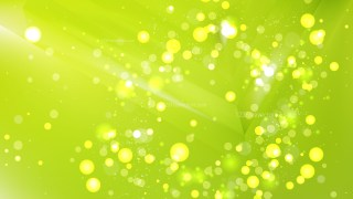 Abstract Lime Green Bokeh Lights Background
