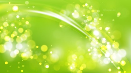 Abstract Lime Green Defocused Background