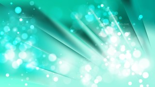 Abstract Mint Green Blurred Lights Background Vector