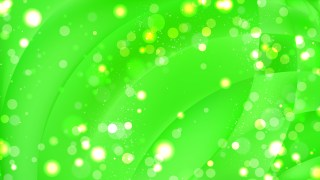 Abstract Neon Green Defocused Lights Background Vector