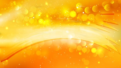 Abstract Orange Bokeh Background Image