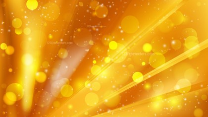 Abstract Orange Blurry Lights Background Design