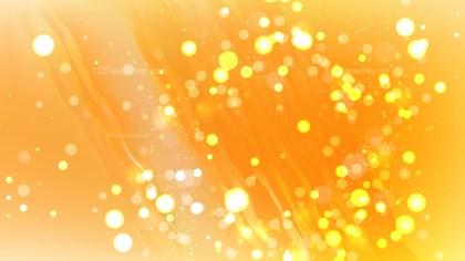 Abstract Orange Bokeh Background Design