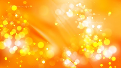Abstract Orange Blurry Lights Background