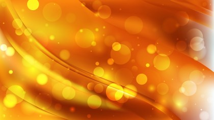 Abstract Orange Blurred Lights Background Vector