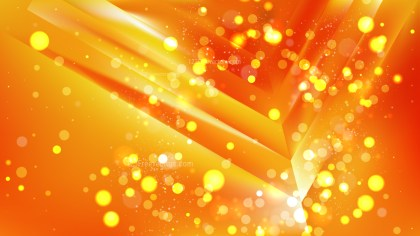 Abstract Orange Bokeh Lights Background Design