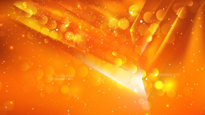 Abstract Orange Bokeh Defocused Lights Background Design