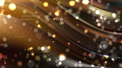 Abstract Orange and Black Blurry Lights Background Vector