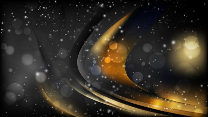 Abstract Orange and Black Blur Lights Background Image