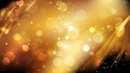 Abstract Orange and Black Bokeh Background Design