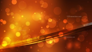 Abstract Orange and Black Blurry Lights Background Design