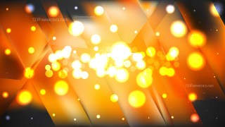 Abstract Orange and Black Bokeh Defocused Lights Background Design