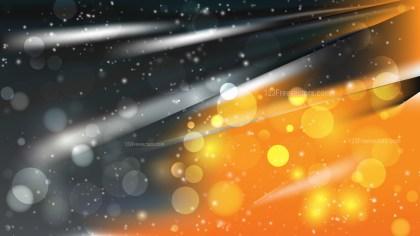 Abstract Orange and Black Lights Background Design