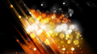 Abstract Orange and Black Defocused Lights Background Design