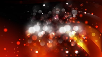 Abstract Orange and Black Bokeh Background