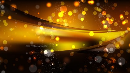 Abstract Orange and Black Lights Background Vector