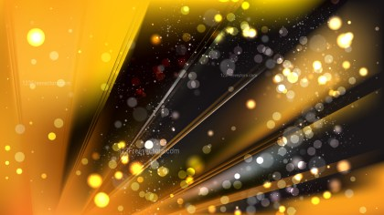 Abstract Orange and Black Defocused Lights Background Vector