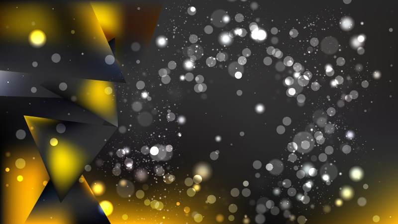 Abstract Orange and Black Bokeh Background Vector