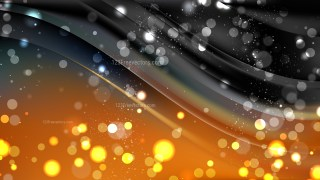 Abstract Orange and Black Bokeh Lights Background Vector