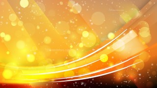 Abstract Orange and Black Bokeh Lights Background Image