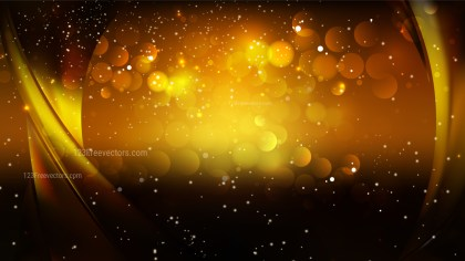 Abstract Orange and Black Bokeh Lights Background Design