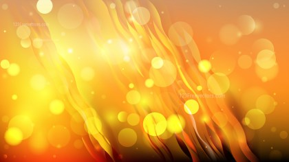 Abstract Orange and Black Blurred Bokeh Background Design