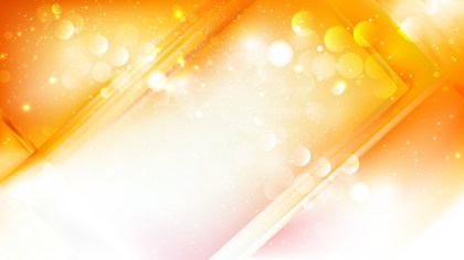 Abstract Orange and White Lights Background Vector