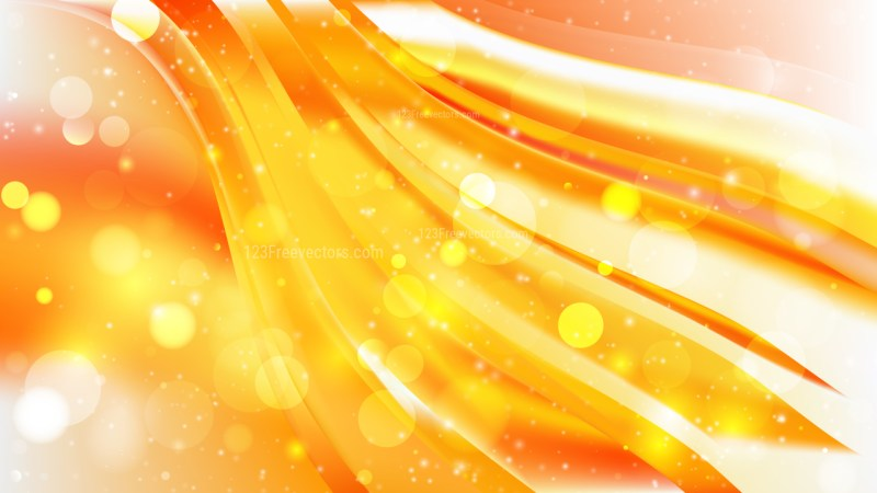Abstract Orange and White Bokeh Defocused Lights Background Vector