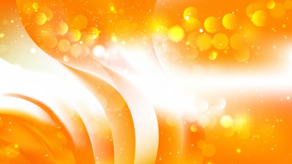Abstract Orange and White Bokeh Background Vector
