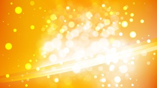 Abstract Orange and White Bokeh Background Image