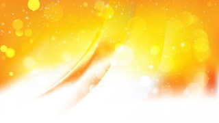 Abstract Orange and White Bokeh Lights Background Image
