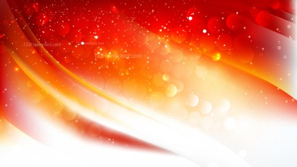 Abstract Orange and White Bokeh Lights Background Design