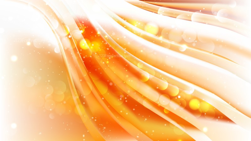 Abstract Orange and White Defocused Lights Background