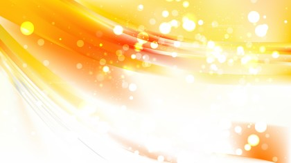 Abstract Orange and White Defocused Lights Background Vector