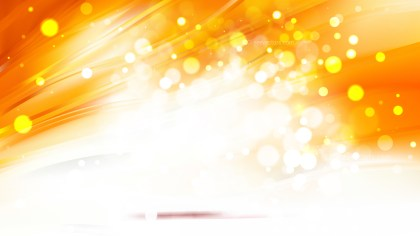 Abstract Orange and White Blurred Bokeh Background Image