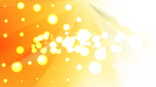 Abstract Orange and White Blurred Bokeh Background Design