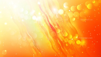 Abstract Orange and White Blurry Lights Background
