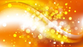 Abstract Orange and White Blurred Bokeh Background Vector