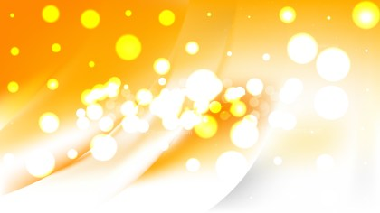 Abstract Orange and White Bokeh Lights Background Vector
