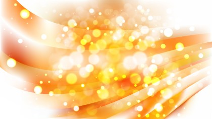 Abstract Orange and White Blur Lights Background Vector