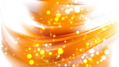 Abstract Orange and White Bokeh Defocused Lights Background Image
