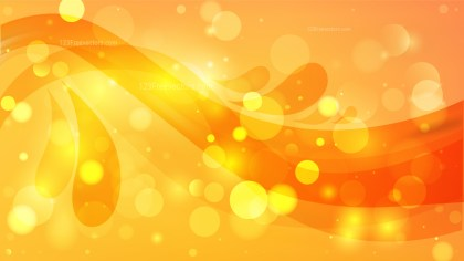Abstract Orange and Yellow Defocused Background Design
