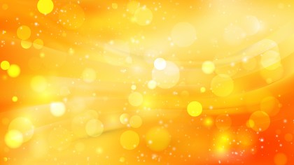 Abstract Orange and Yellow Defocused Lights Background Design
