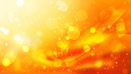 Abstract Orange and Yellow Lights Background Design