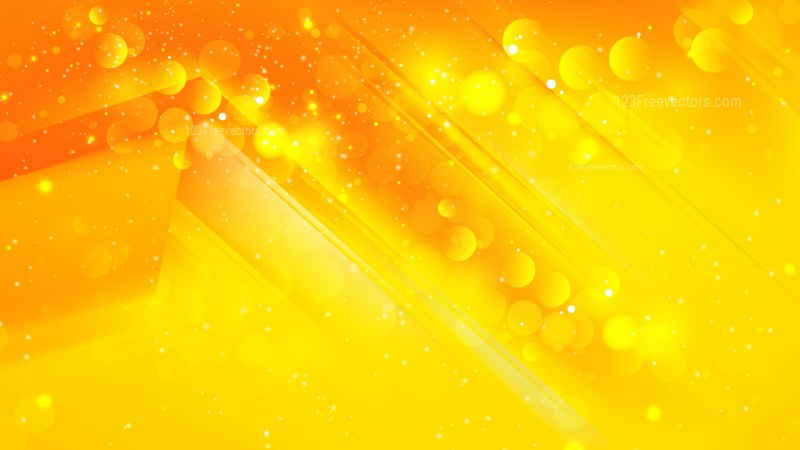 Abstract Orange and Yellow Bokeh Defocused Lights Background Design