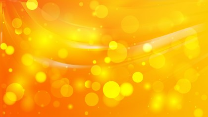 Abstract Orange and Yellow Bokeh Lights Background