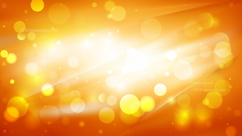 Abstract Orange and Yellow Blurred Lights Background