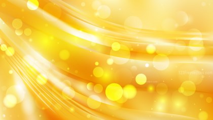Abstract Orange and Yellow Blurry Lights Background Vector