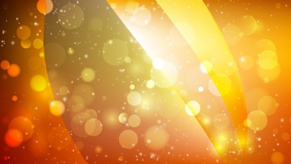 Abstract Orange and Yellow Bokeh Defocused Lights Background Vector